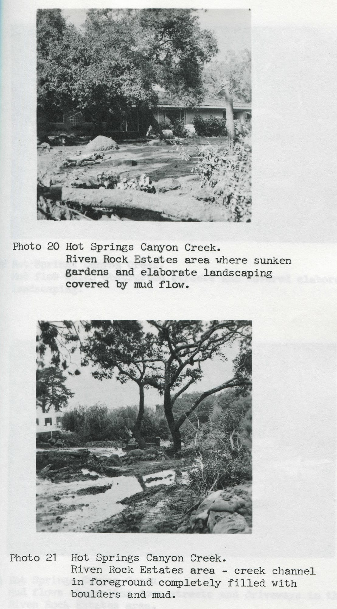 Hot Springs Creek, 1964