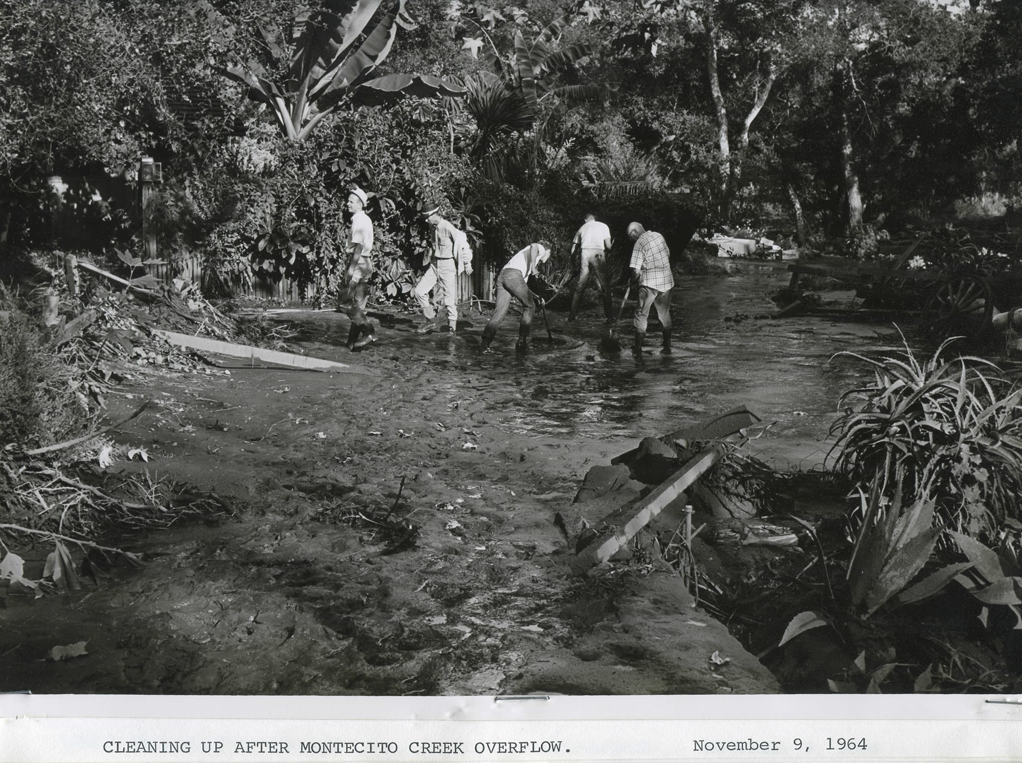 1964 Coyote Fire, Montecito Creek cleanup