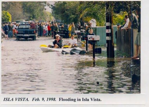Flooding In Isla Vista, February 9, 1998