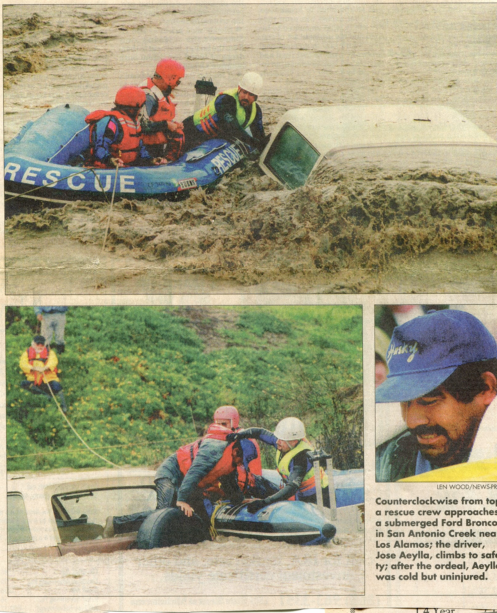 Flood rescue, January 25, 1995
