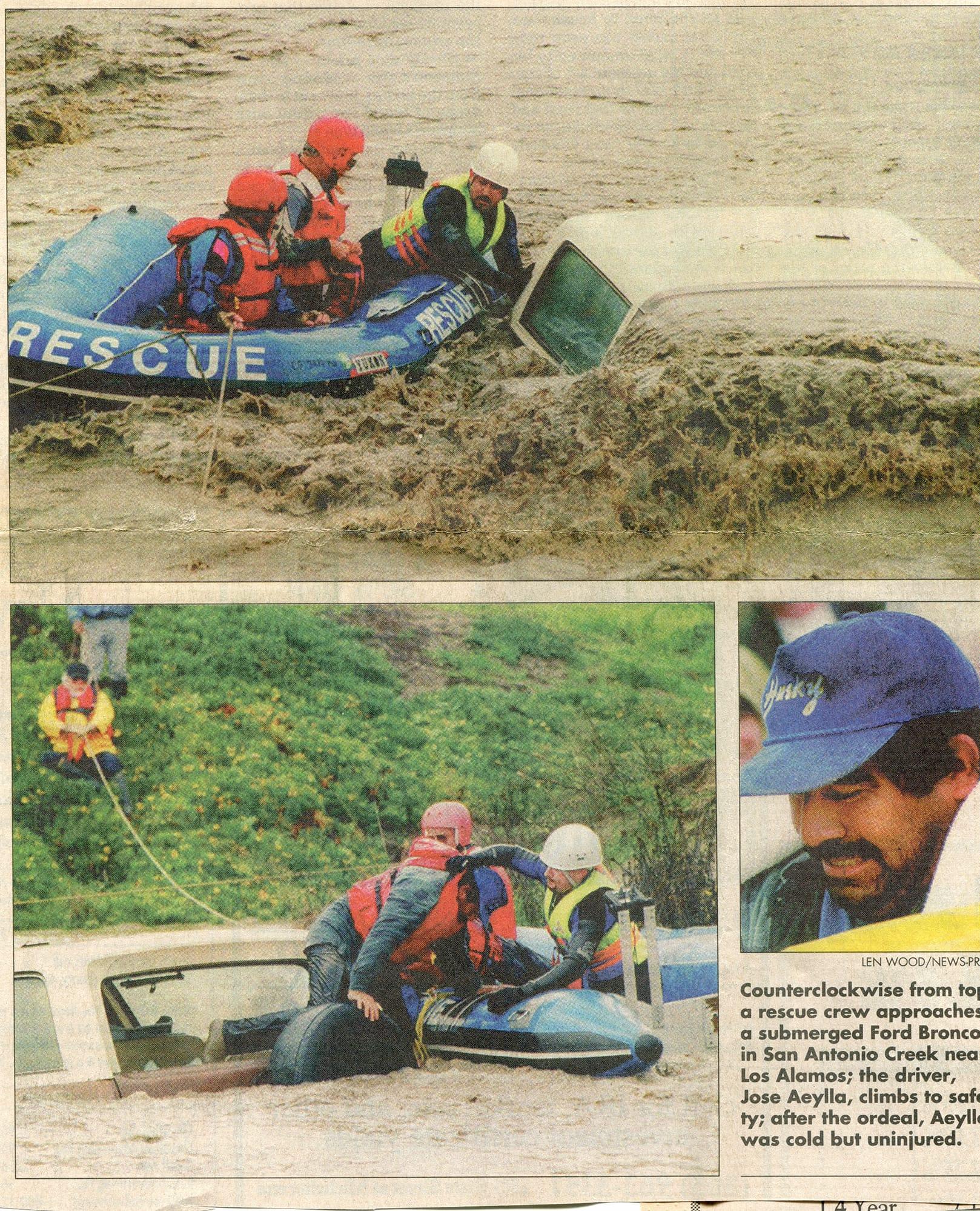 Flood rescue, January 25, 1995