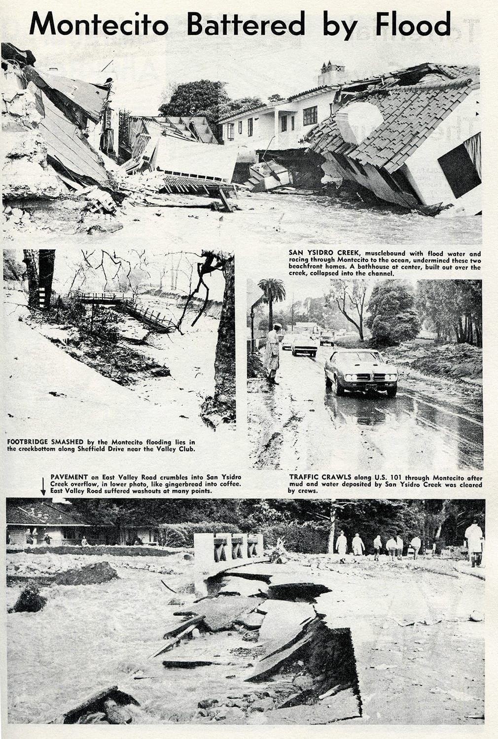 January 28, 1969 - Montecito Battered by Flood