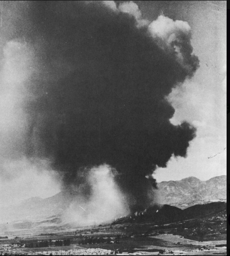 View Of Polo Fire From Carpinteria, 1964.