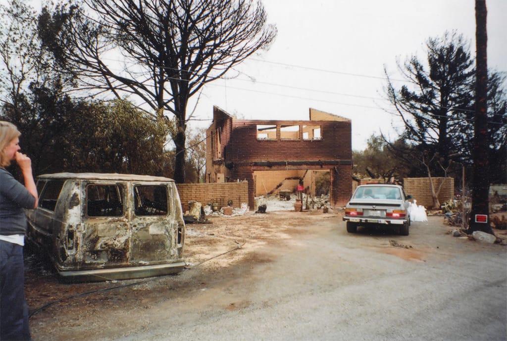 Tea Fire damage, 2008