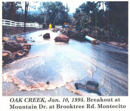 Oak Creek flooding, January 10, 1995