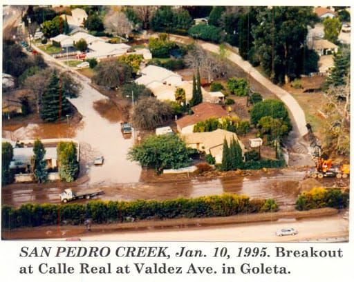San Pedro Creek Flooding, January 10, 1995
